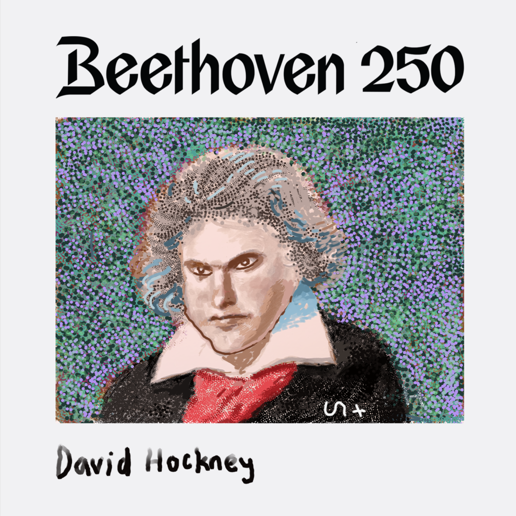 Ludwig von Beethoven, David Hockney, 2020