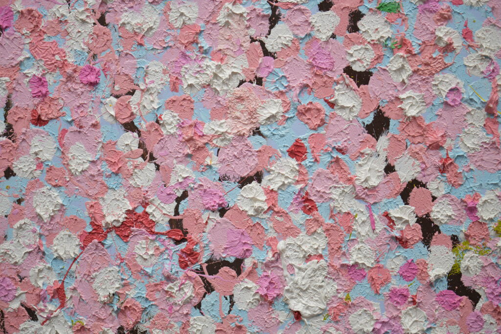 Vue de l'exposion Damien Hisrt à la Fondation Cartier