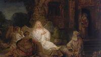 Abraham et les anges, Rembrandt (2)