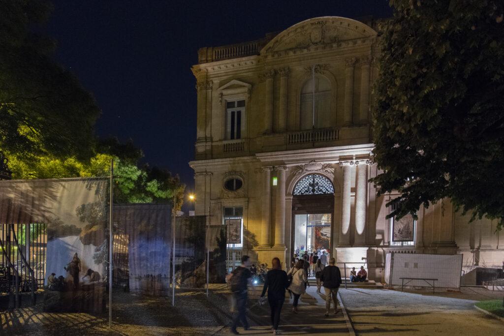 Aile nord du Musée des Beaux-Arts de Bordeaux de nuit