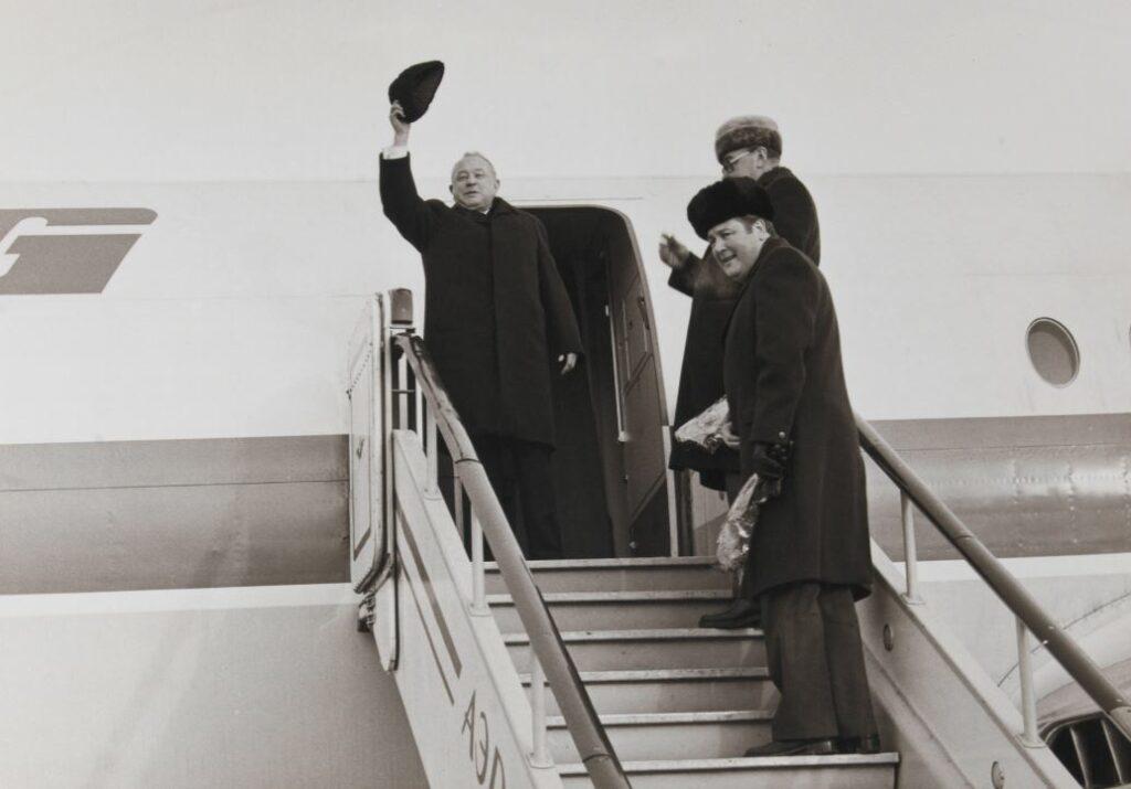 Le général Erich Mielke, ministre de la sécurité d'Etat en RDA, hiver 1980
