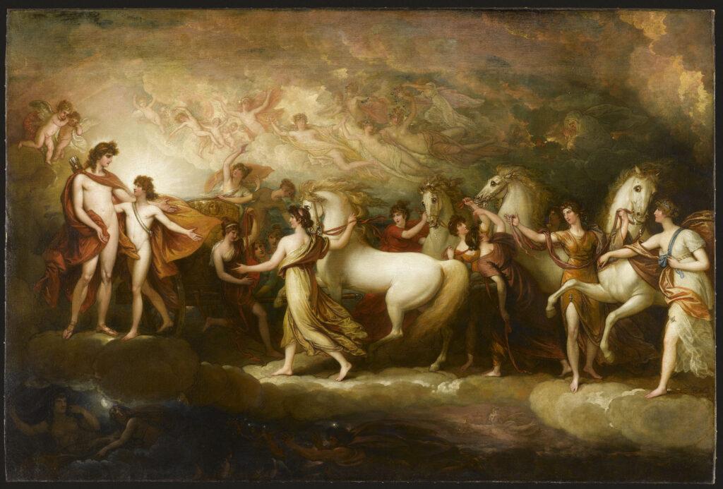 Benjamin West, Phaéton sollicitant d'Apollon la conduite du char du Soleil, 1804