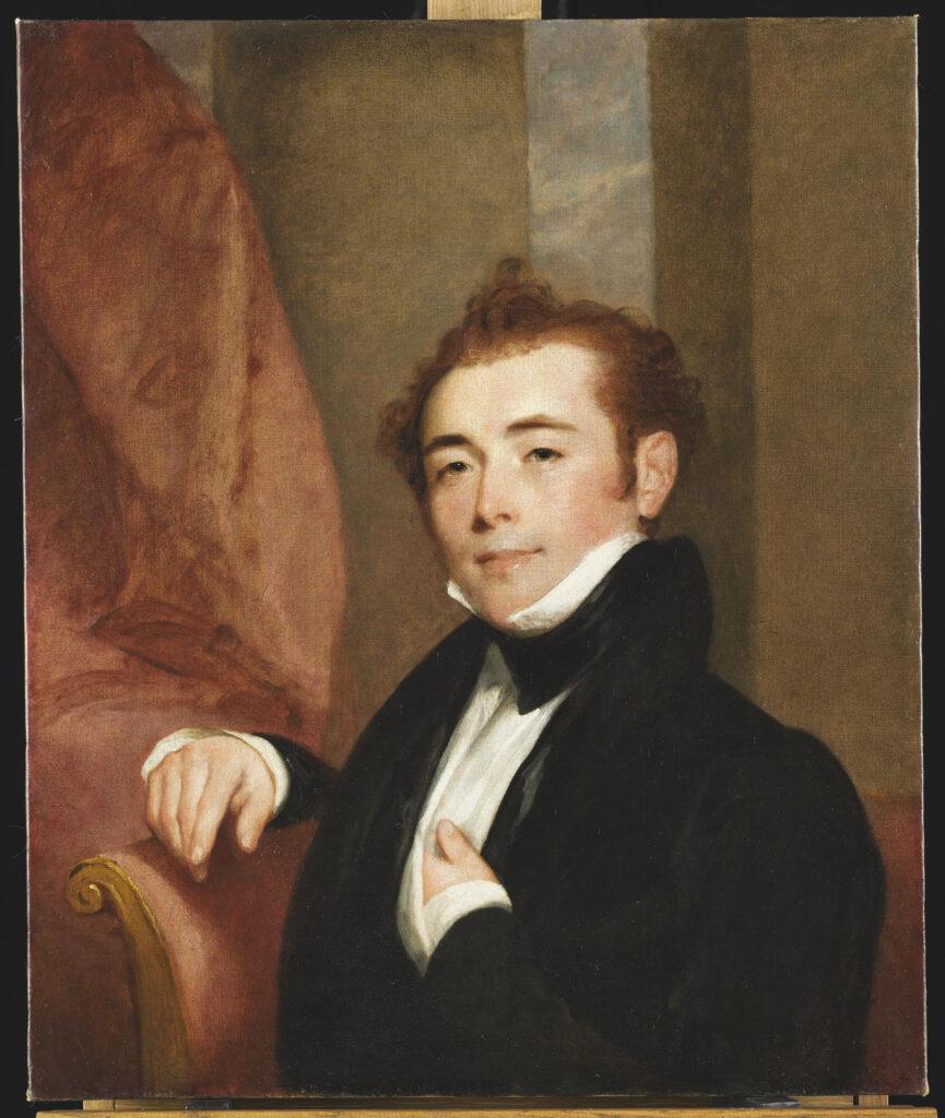 Gilbert Stuart, Portrait de George Brown, père du peintre John Lewis-Brown, 1825