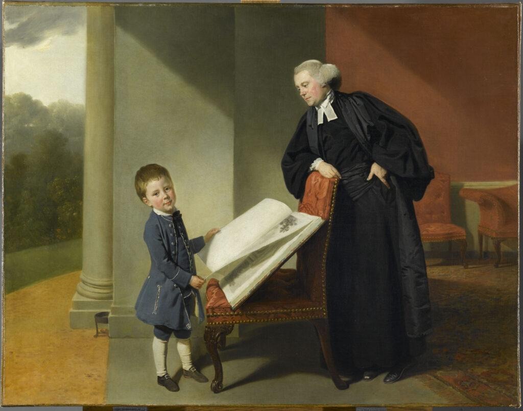 Johan Zoffany, Le révérend Randall Burroughes et son fils Ellis, 1769