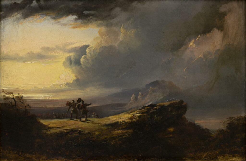 John Martin, Macbeth et les trois Sorcières, 1849-1851