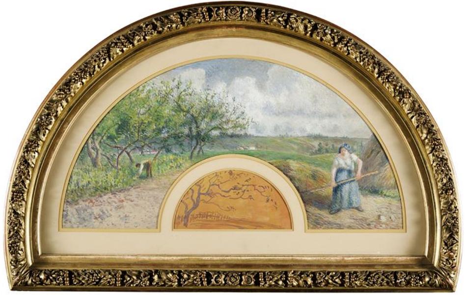 Pissarro, Eventail : Coteaux de Chaponval