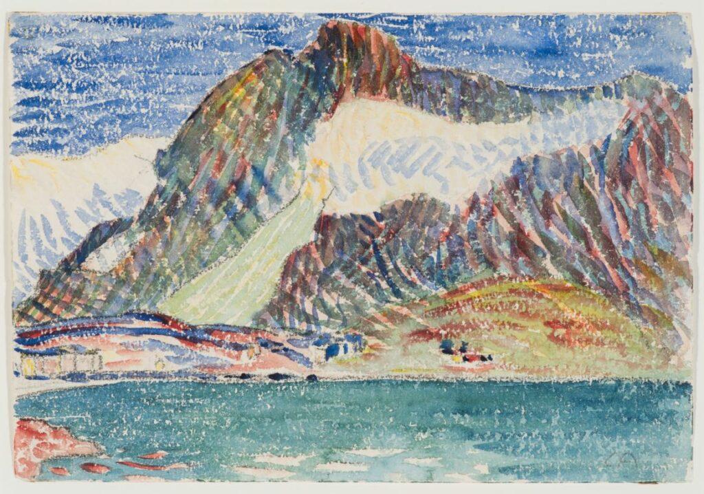 Amiet Cuno, Paysage d'Engadine, 1906