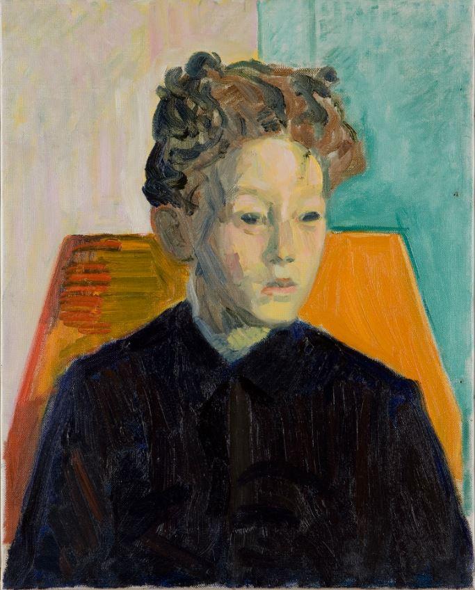 Amiet Cuno, Portrait d'Alberto, 1910