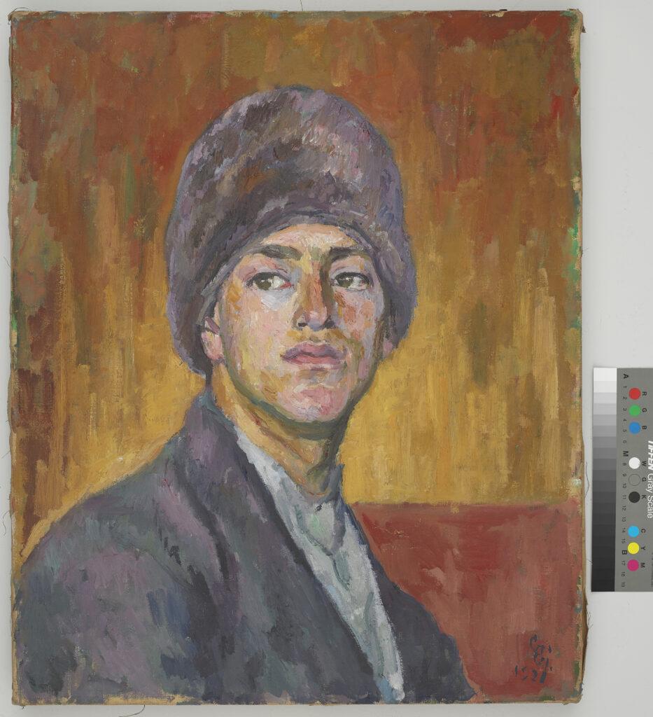 Giovanni Giacometti, Portrait d'Alberto, 1921