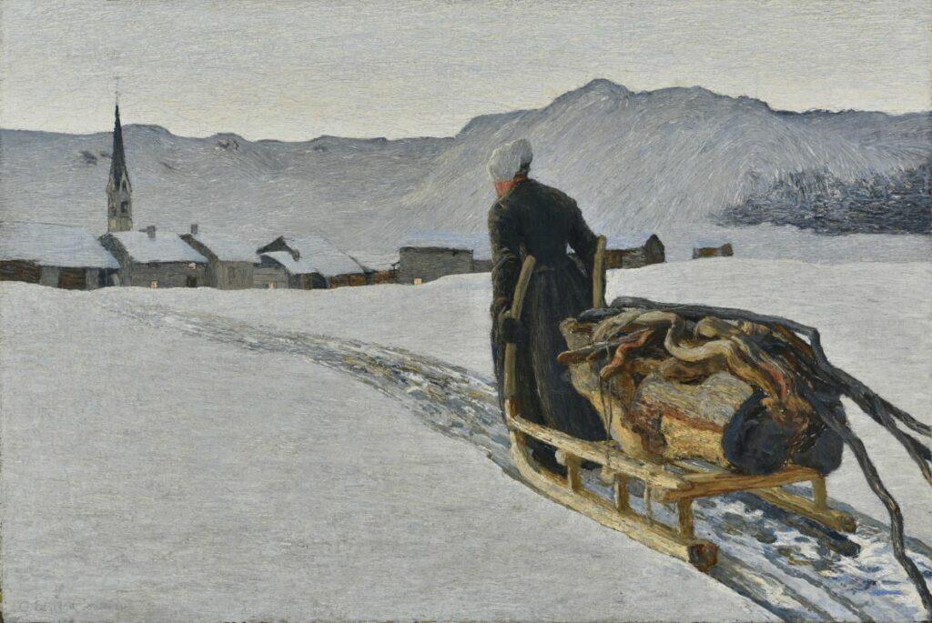 Giovanni Segantini, Retour de la forêt, 1890