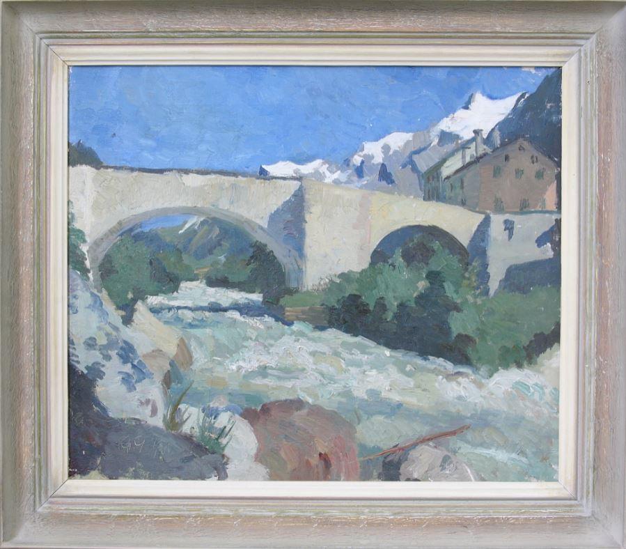 Giovanni Giacometti, Le Pont à Stampa, 1890
