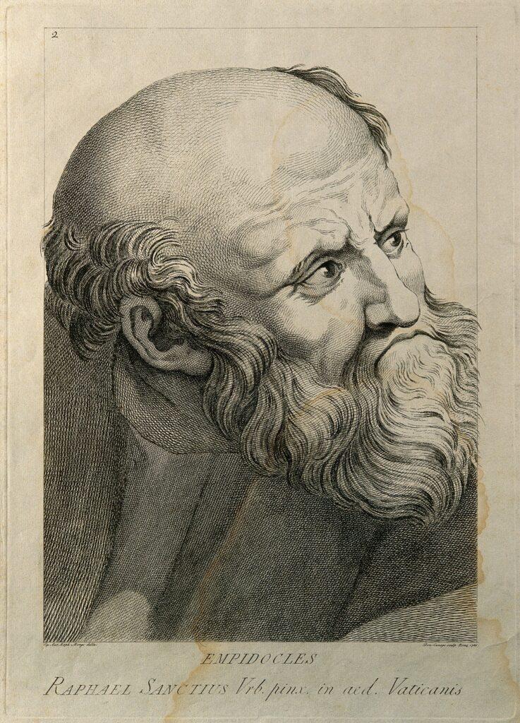 D Cunego, d'après Raphaël, Empedocles, 1785
