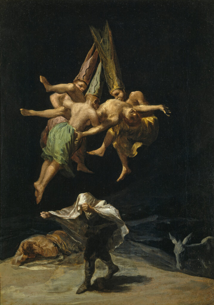 Goya, Vuelo de brujas, 1798