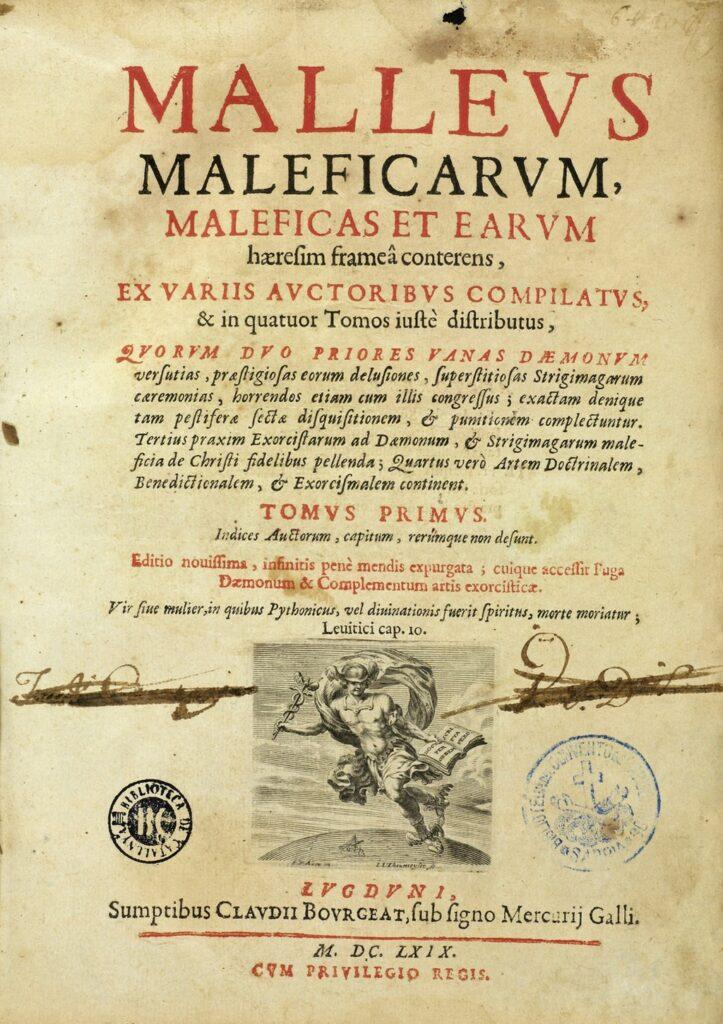 Malleus maleficarum photo légendée