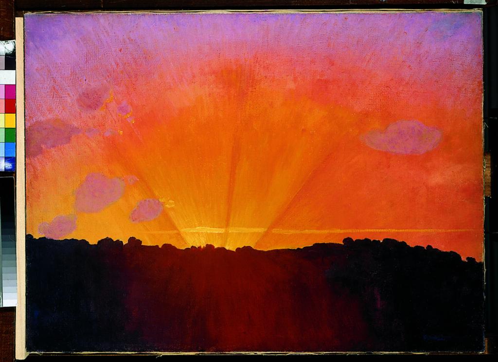 Félix Vallotton, Coucher du soleil, ciel orange, 1910