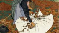 Exposition Modernités suisses au Musée d'Orsay - Ernest Biéler Ramasseuse de feuilles mortes, Vers 1909