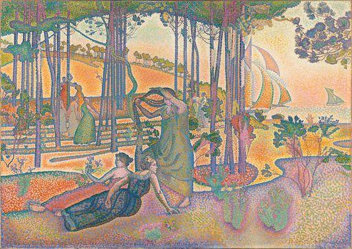 Henri-Edmond Cross, L'air du soir, vers 1893