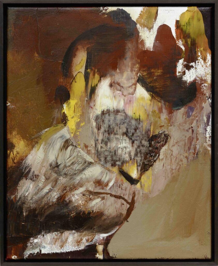 Adrian Ghenie, Autoportrait en singe, 2015