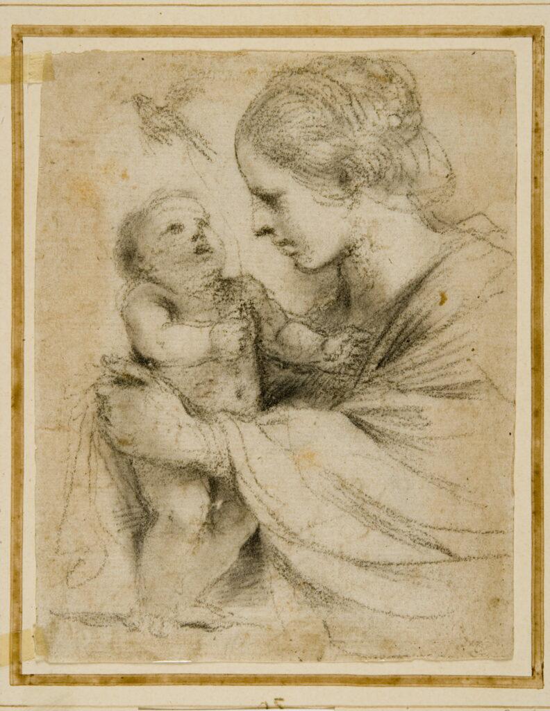 Le Guerchin, La Vierge et l'Enfant avec un chardonneret, 1615-1616