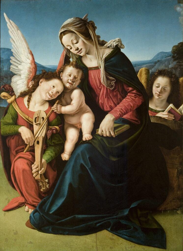 Piero di Cosimo, La Vierge et L'Enfant aux deux anges, vers 1505-1510