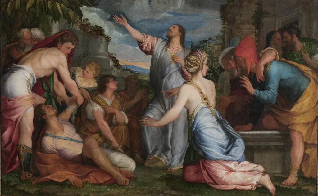 Salviati le Jeune, Giuseppe Porta, La Résurrection de Lazare, vers 1543