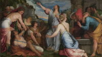 Exposition Trésors de Venise collection Cini, Salviati le Jeune, Giuseppe Porta, La Résurrection de Lazare, vers 1543