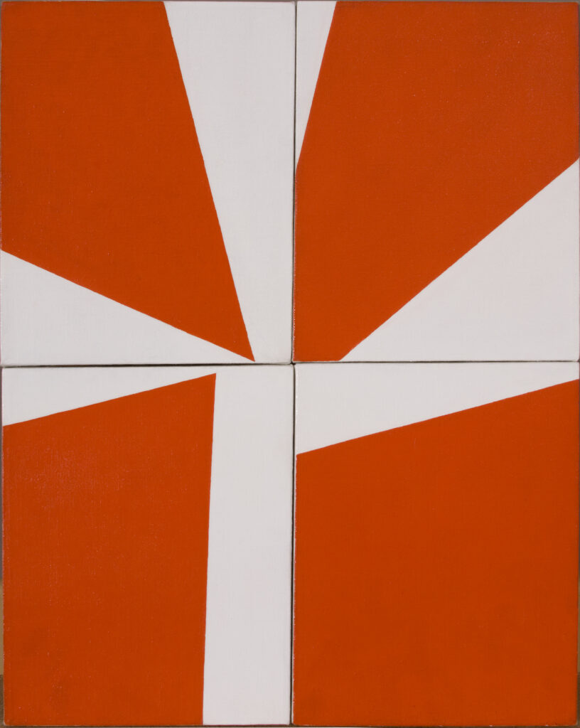 Ralph Coburn, Orange and White Abstracon, 1950