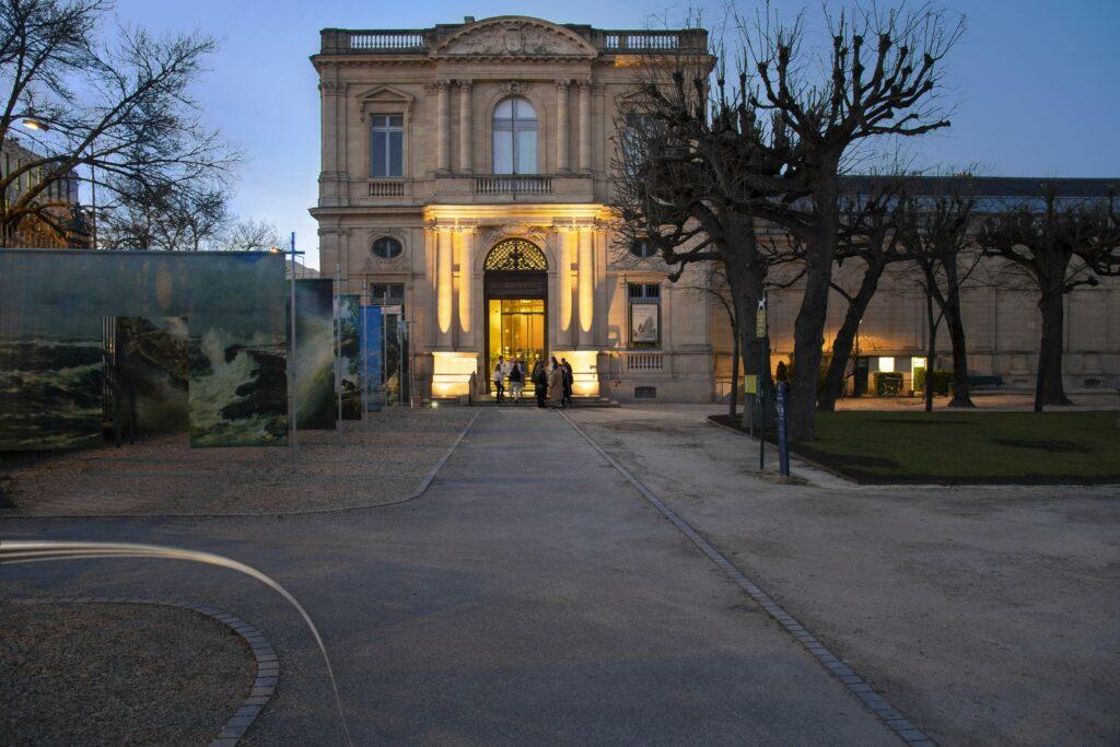 Aile nord du Musée des Beaux-Arts vue du jardin