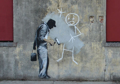Gray Ghost, Banksy, 2008