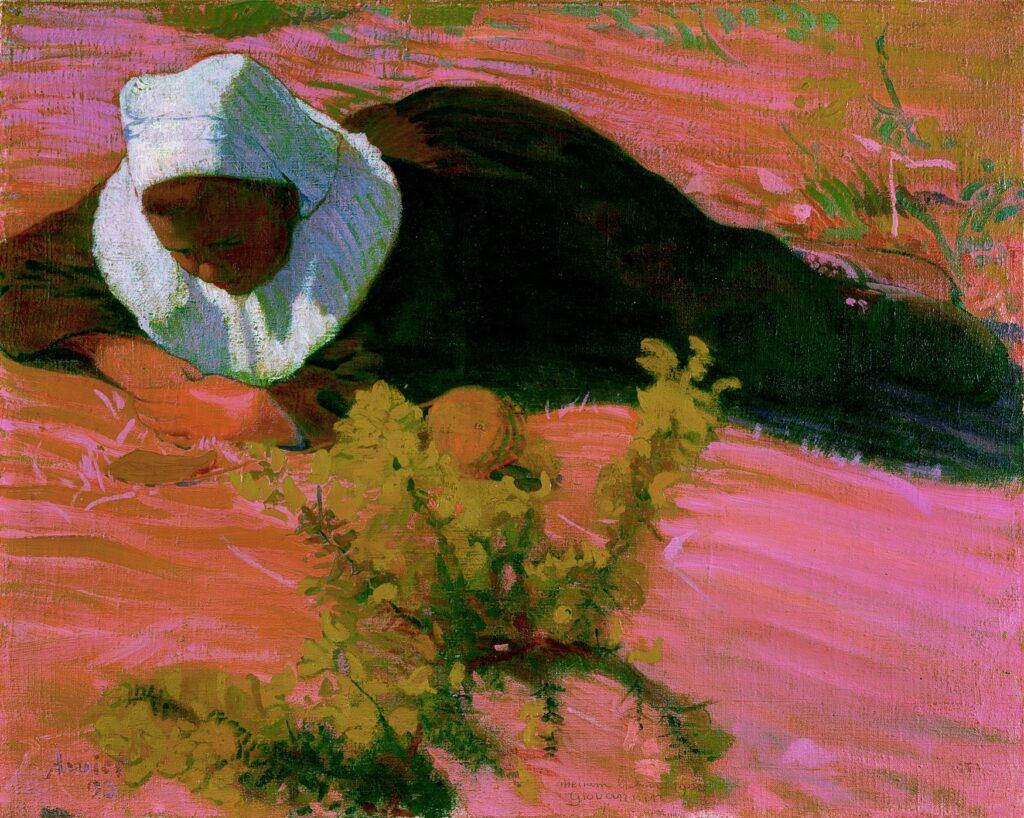 Cuno Amiet, Bretonne couchée, 1893