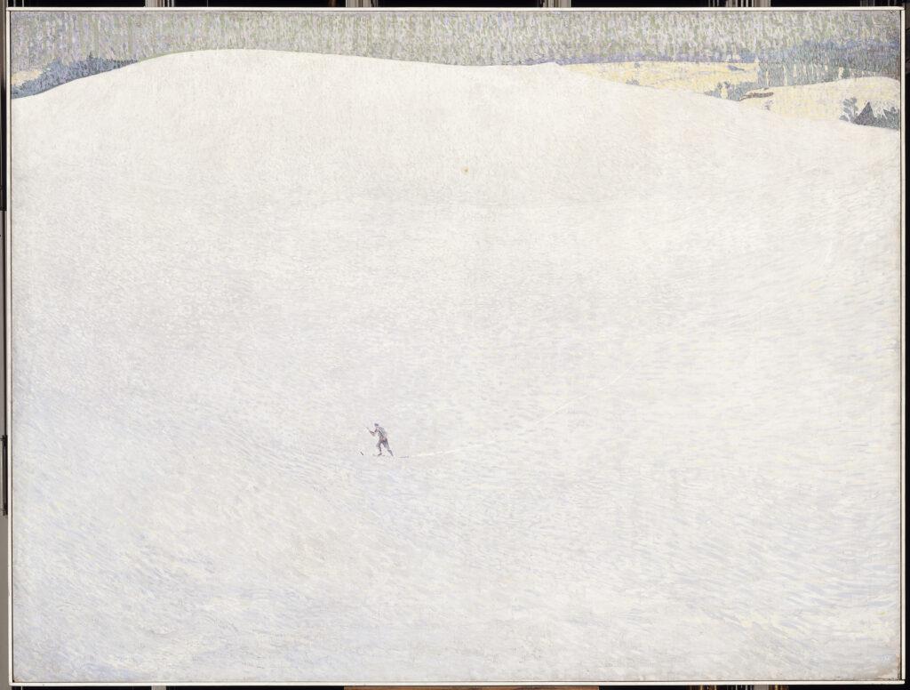 Cuno Amiet, Schneelandschaft (paysage de neige) dit aussi Grand hiver, 1904