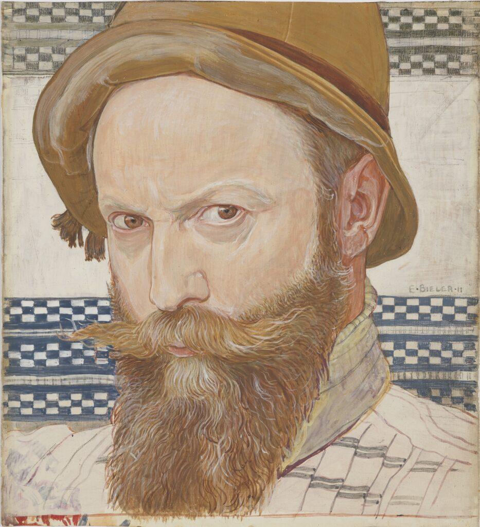 Ernest Biéler, Portrait de l'artiste par lui-même, 1911