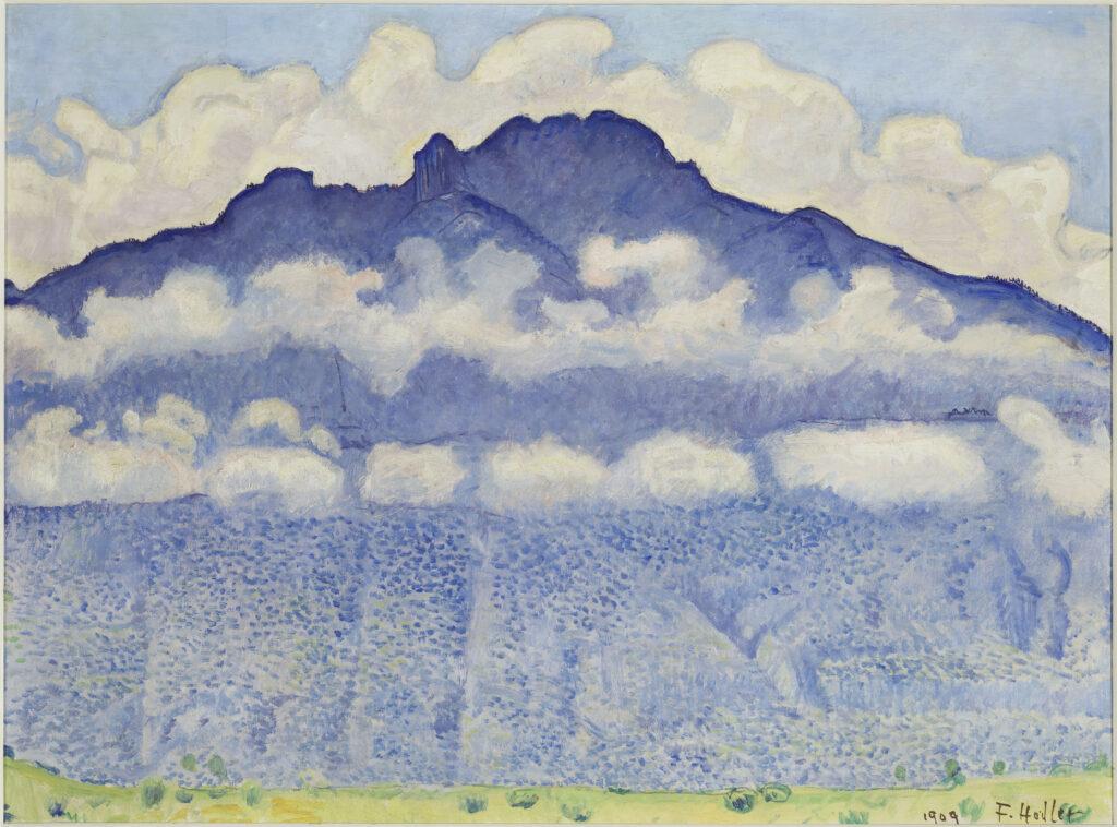 Ferdinand Hodler, La pointe d'Andey, vallée de l'Arve (Haute-Savoie), 1909