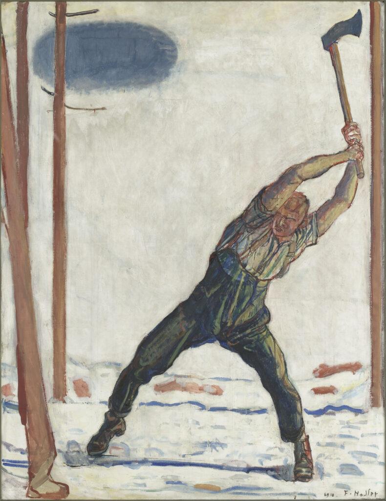Ferdinand Hodler, Le bûcheron (der Holzfäller), 1910