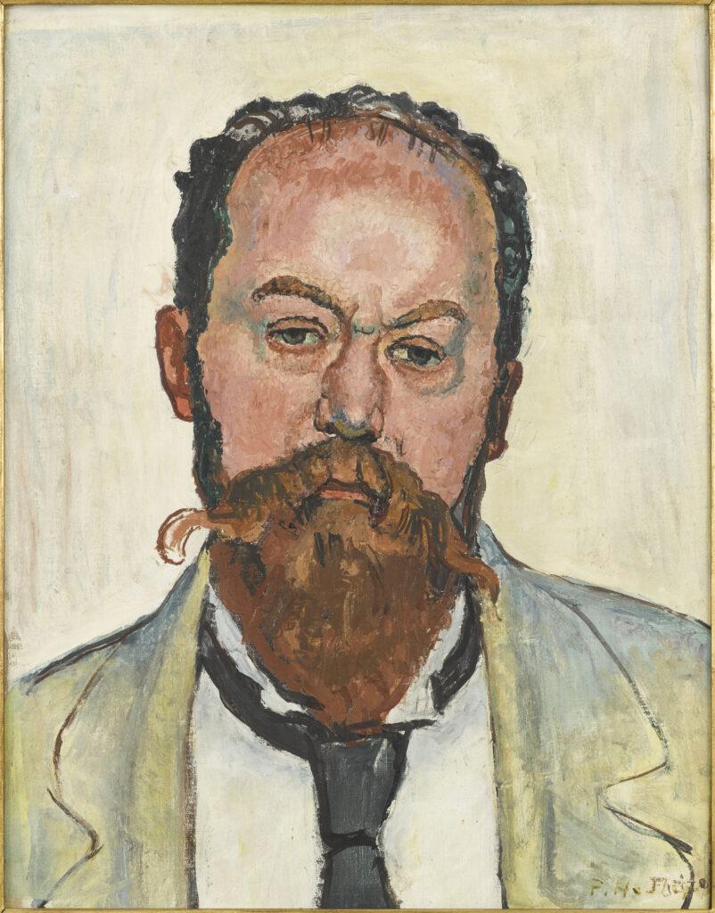 Ferdinand Hodler, Portrait de Mathias Morhardt, 1913