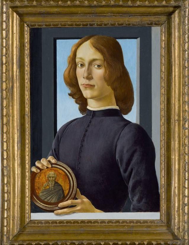 Portrait d'un jeune homme au médaillon, Sandro Botticelli, fin des années 1470-début des années 1480