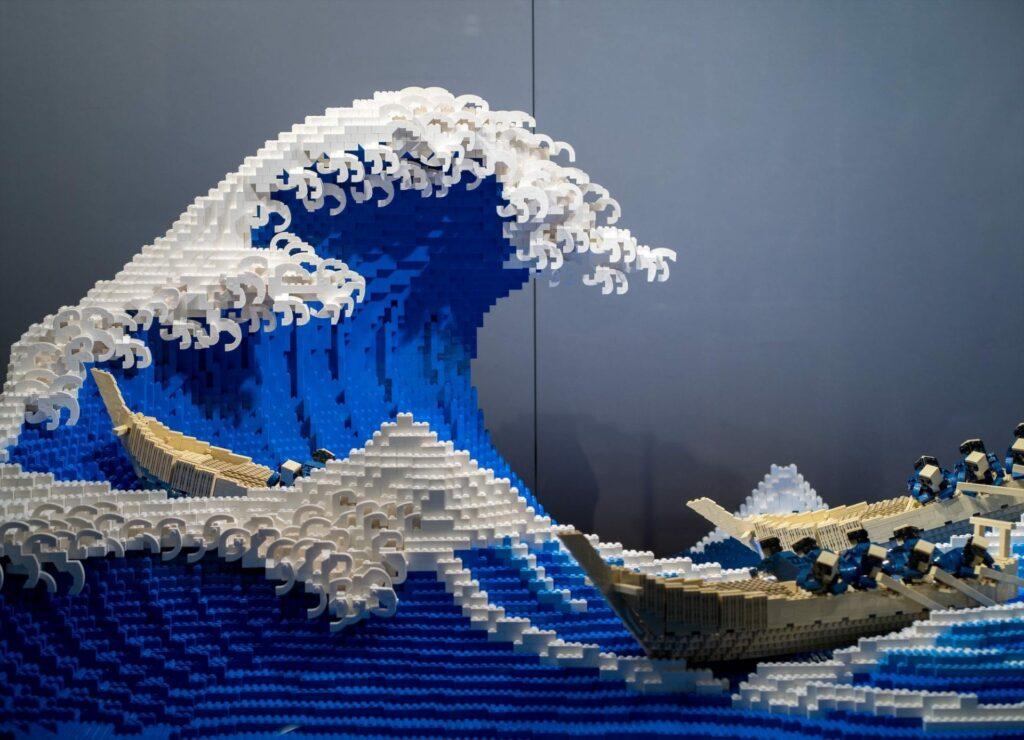Vague de Kanagawa en LEGO, Jumpei Mitsui, 2020