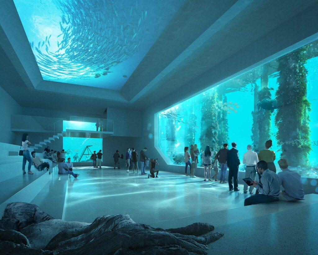 Intérieur de l'Australian Underwater Discovery Centre