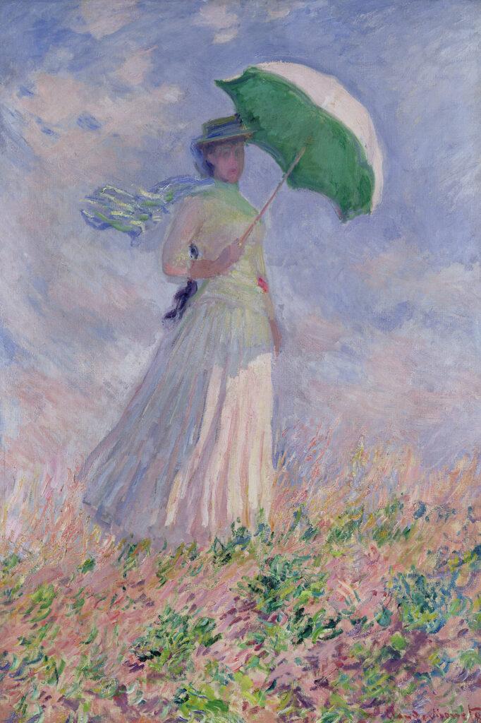 Claude Monet, Femme à l'ombrelle tournée vers la droite, 1886