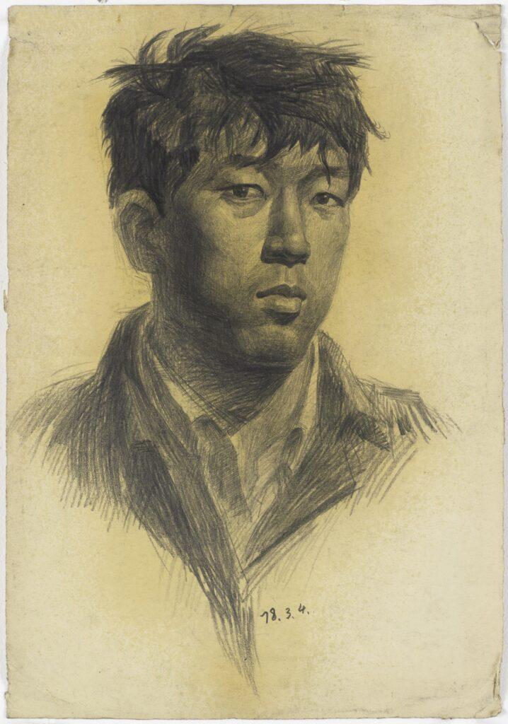 Yan Pei-Ming, Autoportrait, 1978