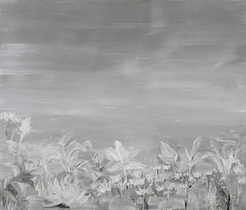 Yan Pei-Ming, Fleurs funéraires, 2003