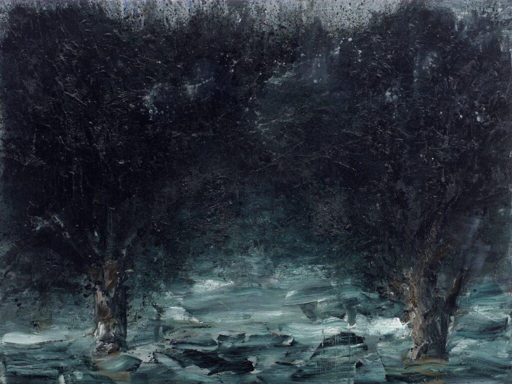 Yan Pei-Ming, International Landscape by Night, 2011