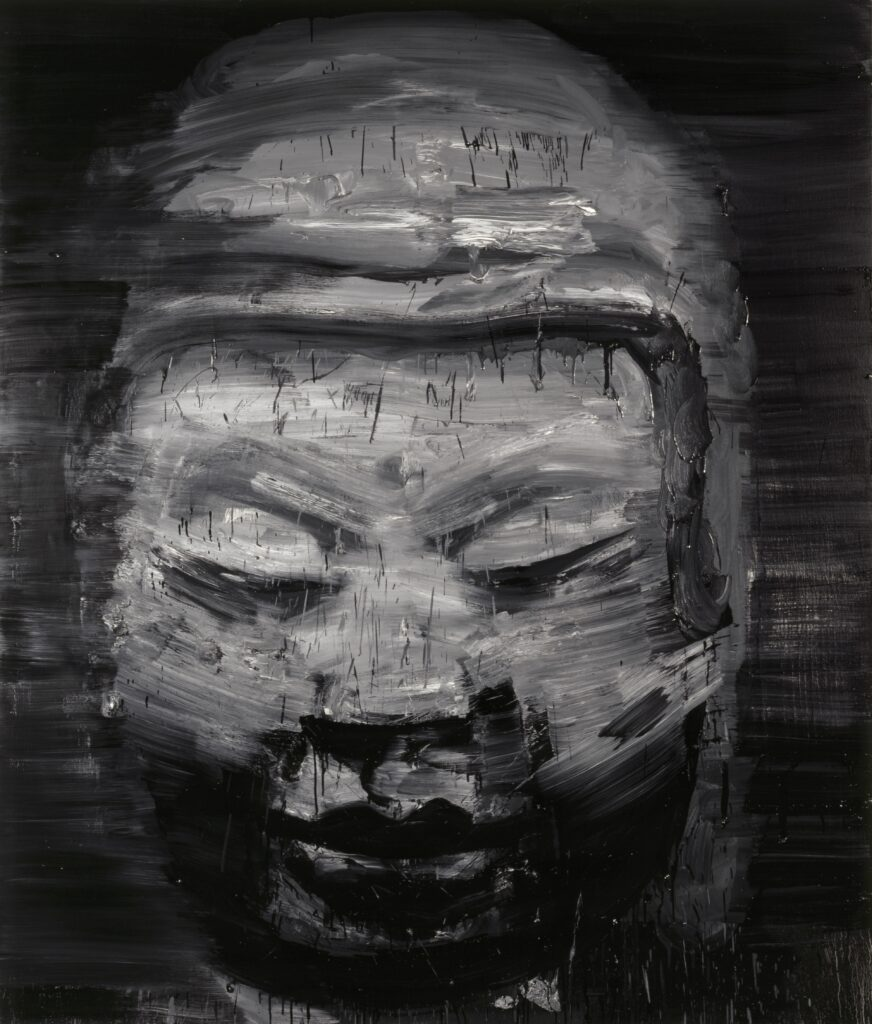 Yan Pei-Ming, Invisible Buddha, 1999