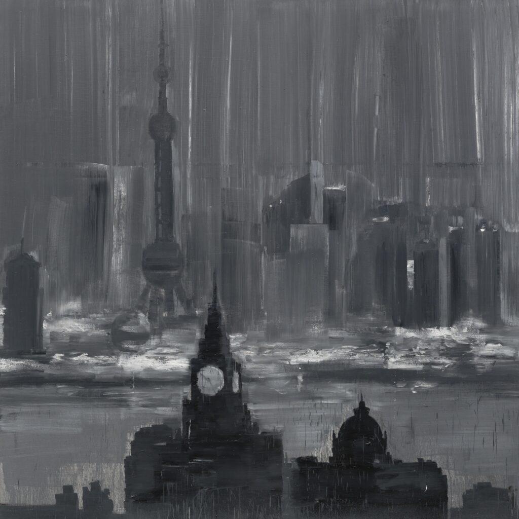 Yan Pei-Ming, Shanghai at Night, 2003