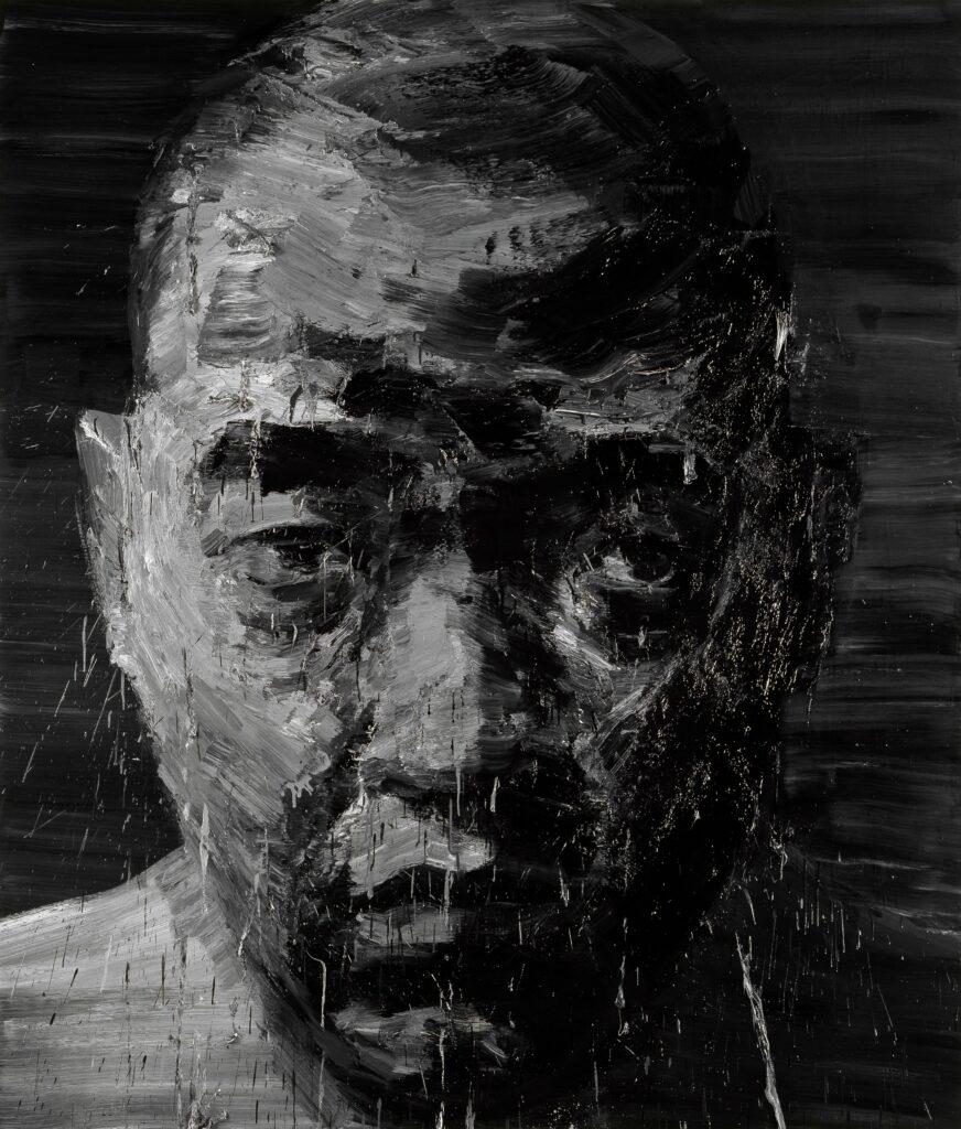 Yan Pei-Ming, Autoportrait N°3, 2000