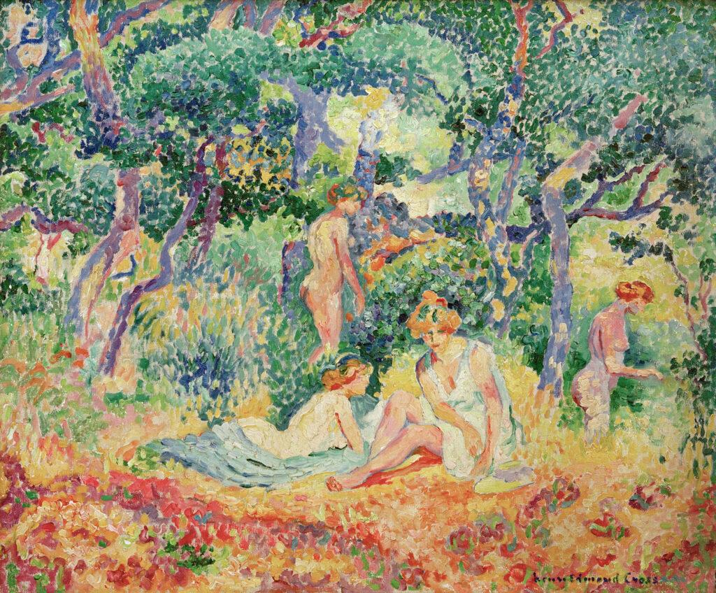 Henri-Edmond Cross, Le Bois ou Nu sous bois, 1906-1907