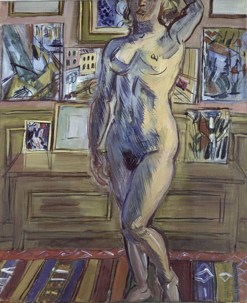 Raoul Dufy, Atelier de Paris avec nu, 1944
