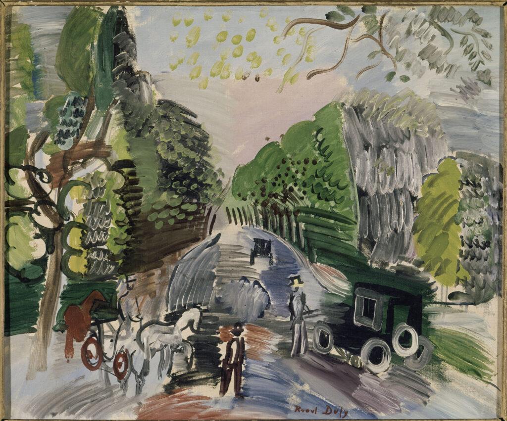 Raoul Dufy, Au bois de Boulogne, 1901