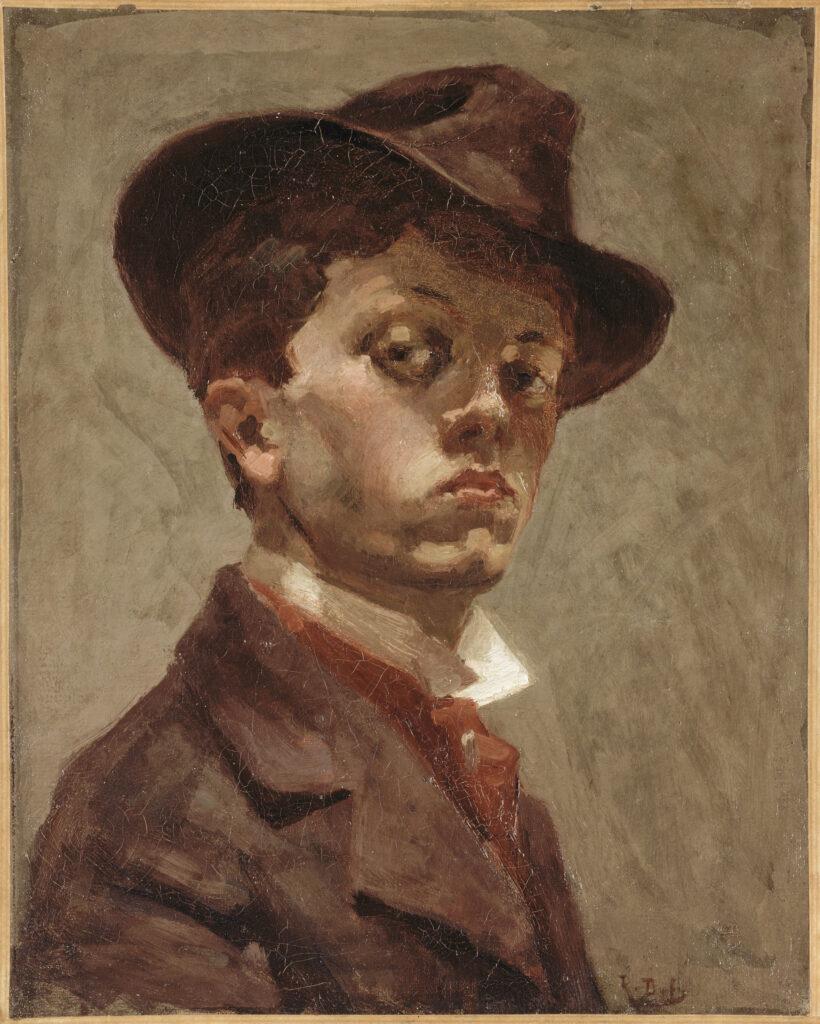 Raoul Dufy, Autoportrait au chapeau mou, vers 1898