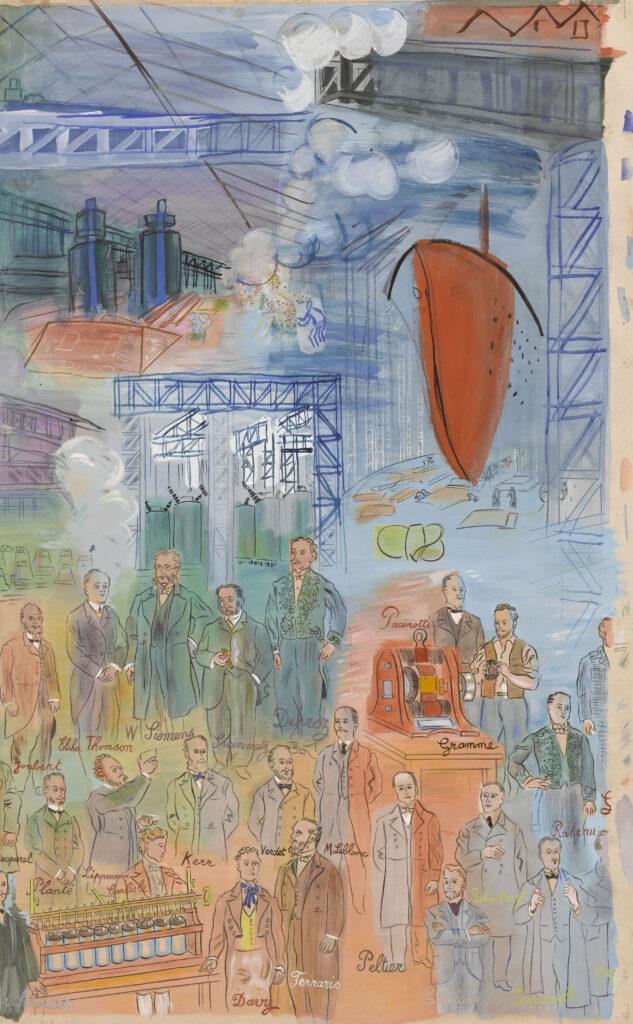 Raoul Dufy, La Fée Electricité (partie centrale), 1952-1953